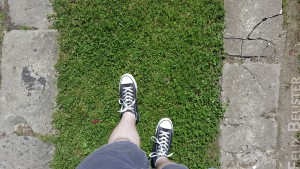 Feet on Grass